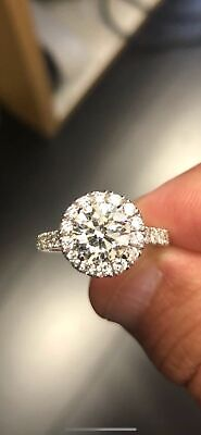 Gorgeous 2.20 Ctw Round Cut Halo Diamond Engagement Ring H  VS2 - GIA Certified 3