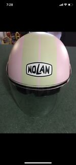 Girls ladies Nolan Pink Motorcycle / Scooter Helmet
