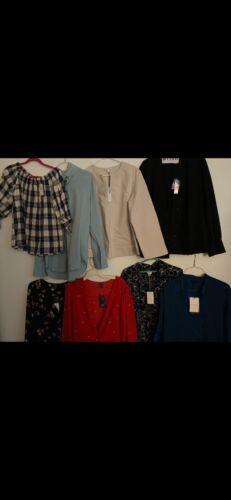 Women's semi dress blouse top lot sz L, XL & 1X clothing lot