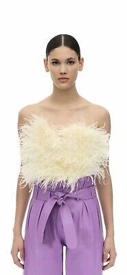 Attico Feather Strapless Embellished Top Size IT 42