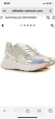 Alexander Mcqueen Reflective Oversized Runner Trainers, Metallic Sneakers Size 5