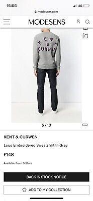 """🇬🇧 Mens Used Kent & Curwen Sweatshirt XL RRP £148 P2P 24"""""""
