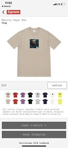 MARVIN GAYE TEE SIZE LArge