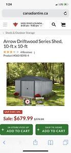 10x10 shed brand new still in the box