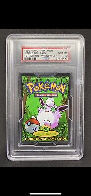1999 WOTC Pokemon 1st Edition Booster Pack PSA 10 Jungle Wigglytuff Art