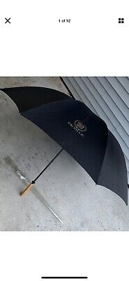 "Vintage Fiberglass Shaft Cadillac Deville Owner's Umbrella Large 62"" with Cover"