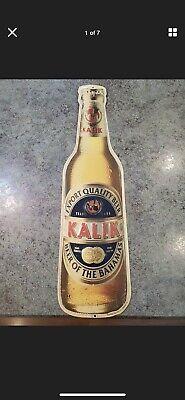 Vintage Tin Bottle Beer Sign Advertising Kalik Beer of the Bahamas