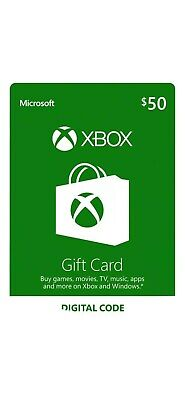 $50 XBOX Live $50 USD Gift Card - XBOX ONE and 360 - USA ONLY - 5% discount