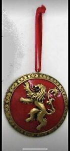 3 inch Games Of Thrones metallic shield Christmas ornament