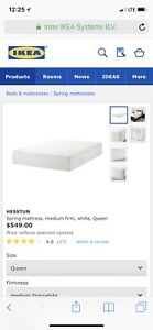 Used bed frame&queen size spring mattress