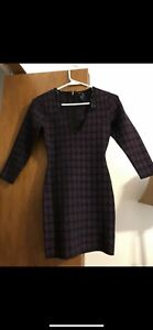 MARCIANO PURPLE AND BLACK DRESS