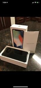 iPhone X space gray 256gb with apple care unlocked
