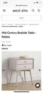 West elm pebble side table