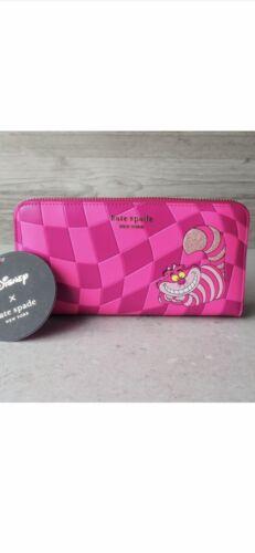 Disney Parks Kate Spade Alice in Wonderland Cheshire Cat Zip Wallet - NEW