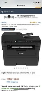 Brother DCPL 2550DW wireless monochrome laser printer