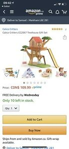 Calico critters treehouse bnib