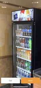 Glass door fridge