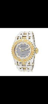 INVICTA RESERVE 50mm CHAOS SWISS R150 AUTOMATIC METEORITE DIAL TWO TONE BRACELET
