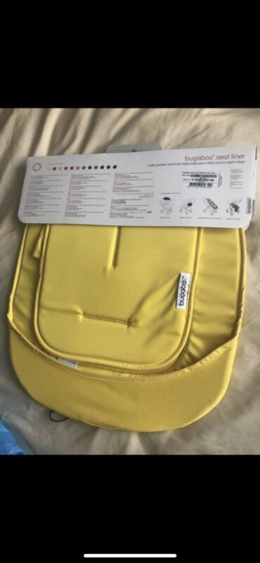 bugaboo seat liner yellow