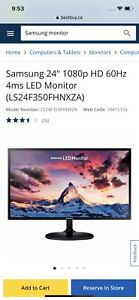 Samsung 24 inches 60 Hz 1080p Full  HD