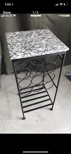 Wrought Iron with Marble Top