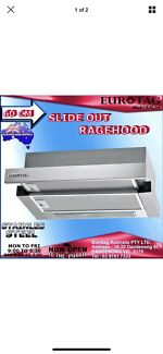 EUROTAG 60cm-600mm High Quality  Slide Out Rangehood Canopy