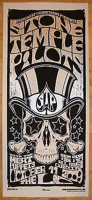 2009 Stone Temple Pilots - Silkscreen Concert Poster S/N by Mike Martin