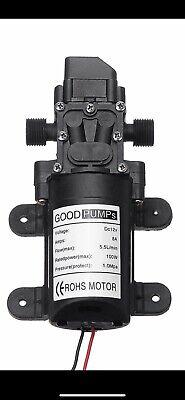 130psi 6lmin Water Pump High Pressure Diaphragm Self Priming Pump 100w Dc12v