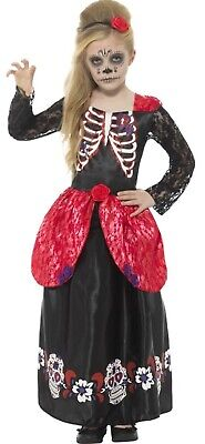 Deluxe Mexican Day of the Dead Girls Halloween Fancy Dress Costume Outfit - Day Of The Dead Halloween Outfit