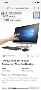 Ordinateur hp touchscreen all - in - one pavilion