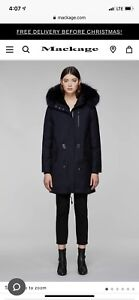 Mackage Rena Fur lined coat in a SMALL