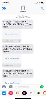 Australia open ticket