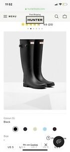 HUNTER BOOTS SIZE 8 and 9
