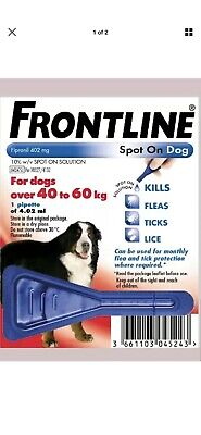 Frontline Spot On Flea and Tick treatment Extra Large XL Dogs 40-60kg 1 pipette