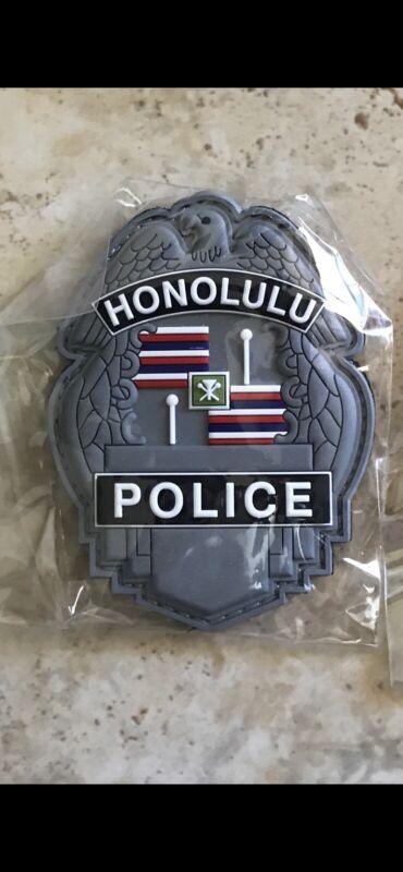 Honolulu Police PVC Patch - Silver