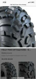 Wanted 2 atv Tires size 15/13/9 new or used !