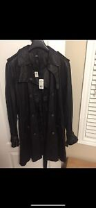 100% authentic parasuco leather trenchcoat jacket only $200