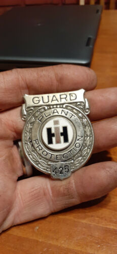 JORITZ!  IH International Harvester Plant Protection Badge. Guard. 1945-1973