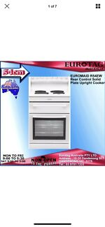 EUROMAID R54EW Rear Control Solid Plate 54cm Upright Cooker