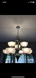 Set of 2 Chandelier lights- excellent condition