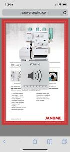 Janome XG-43D serger sewing machine  brand new never opened