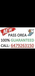 100% PASS OREA— call 6479263150. Aug '18 update + math classes