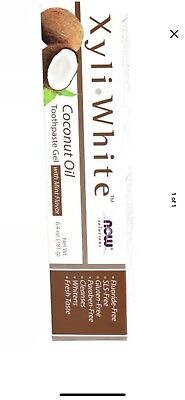 Now Foods Xyliwhite Zahnpasta Gel (Now Foods XyliWhite Coconut Oil Toothpaste Gel Mint 6.4 oz NO FLUORIDE free Ship)