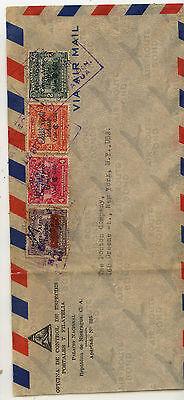 Nicaragua  nice overprinted stamps on cover to US                   MS0221