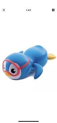 Munchkin Wind Up Swimming Penguin Bath Toy, Blue - Penguin Bath Toy