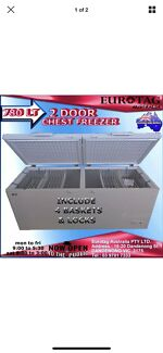 EUROTAG 780 LT COMMERCIAL  2 DOOR CHEST FREEZER