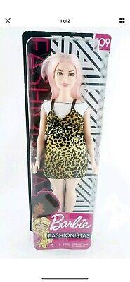 New 2018 / 2019 Barbie Fashionistas Doll 109 Leopard Dress Curvy