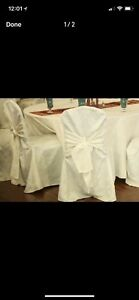 Selling Used Banquet Chair cover Damask for $4