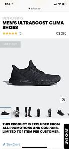 Adidas Ultra Boost Clima Cool size 13