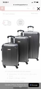 Canada 3 Piece Hardside Spinner Luggage Set By Canada